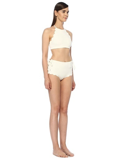 Marysia Bikini Alt Beyaz